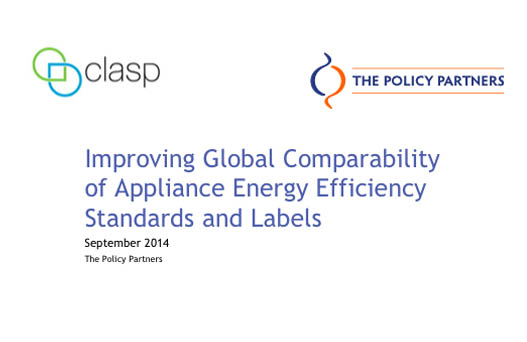 Improving global comparability of applicance energy efficiency standards and labels